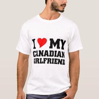 Camiseta Eu amo meu namorada canadense