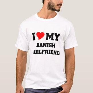 Camiseta Eu amo meu namorada dinamarquês
