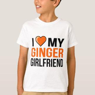 Camiseta Eu amo meu namorada do gengibre