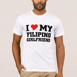 Camiseta Eu amo meu namorada filipino