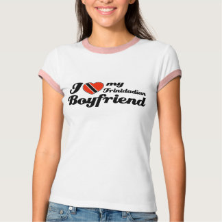 Camiseta Eu amo meu namorado de Trindade e Tobago