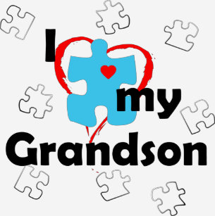 9ab3c0e6cb Camiseta Eu amo meu neto - autismo