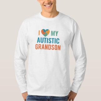 Camiseta Eu amo meu neto autístico
