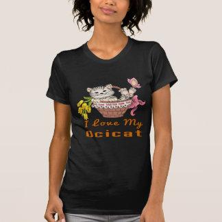 Camiseta Eu amo meu Ocicat