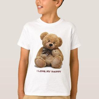 Camiseta Eu amo meu pai. T-shirt do presente para miúdos