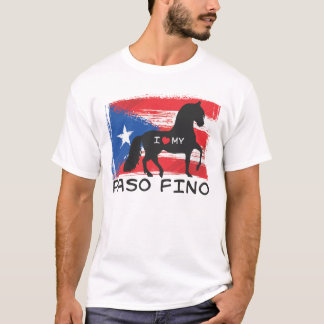 Camiseta Eu amo meu Paso porto-riquenho Fino