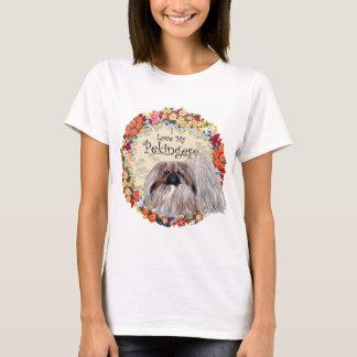 Camiseta Eu amo meu Pekingese