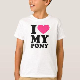 Camiseta Eu amo meu pônei
