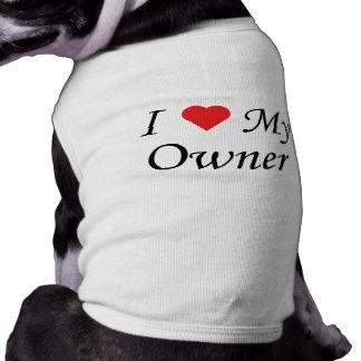 Camiseta Eu amo meu proprietário