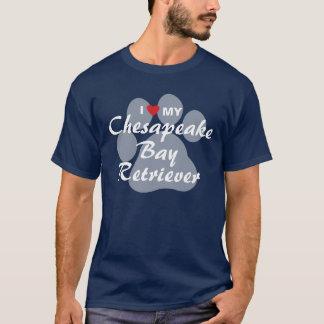 Camiseta Eu amo meu Retriever de baía de Chesapeake
