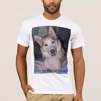 Camiseta Eu amo meu rouco Siberian!