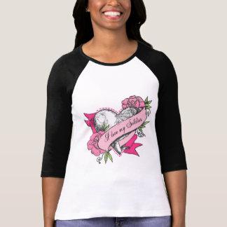 Camiseta Eu amo meu soldado - coração & rosas