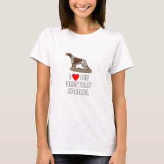 Camiseta Eu amo meu Spaniel de Brittany