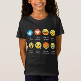 Camiseta Eu amo meu T engraçado do Emoticon de Emoji do