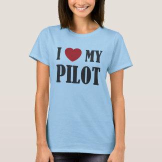 Camiseta Eu amo meu T piloto