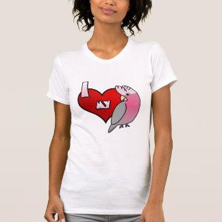 Camiseta Eu amo meu t-shirt cor-de-rosa das senhoras do