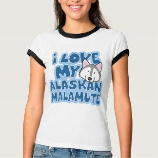 Camiseta Eu amo meu t-shirt da campainha das senhoras do