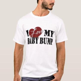 Camiseta Eu amo meu t-shirt da colisão do bebê