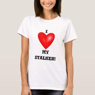 Camiseta Eu amo meu t-shirt do assediador