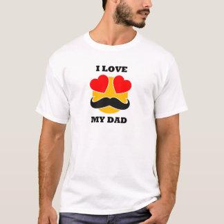 Camiseta Eu amo meu t-shirt do pai - presente do dia dos