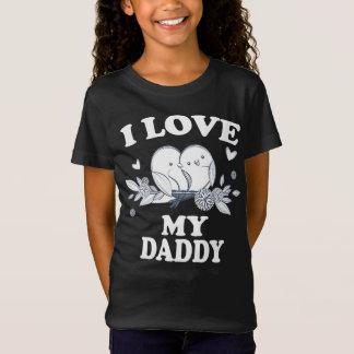 Camiseta Eu amo meu t-shirt do presente do pai do pai