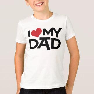 Camiseta Eu amo meu t-shirt dos miúdos do dia dos pais do