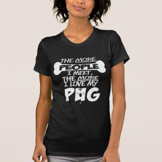 Camiseta Eu amo meu t-shirt ocasional do Pug