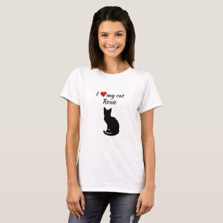 Camiseta Eu amo meu t-shirt personalizado gato