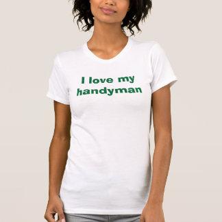Camiseta Eu amo meu trabalhador manual