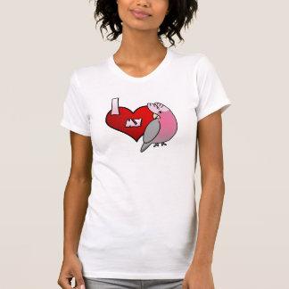 Camiseta Eu amo meu TShirt do Cockatoo de Galah