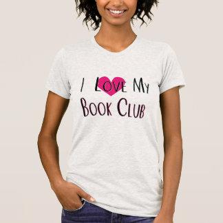 Camiseta Eu amo meu Tshirt do coração do clube de leitura