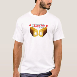Camiseta Eu amo meu Twinkies - t-shirt branco