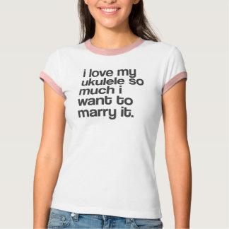 "Camiseta ""Eu amo meu ukulele…"" design"