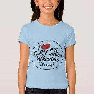 Camiseta Eu amo meu Wheaten revestido macio (é um cão)