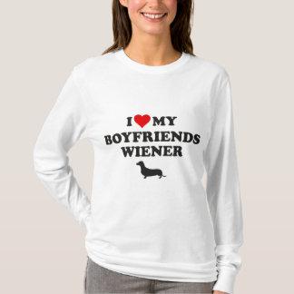 Camiseta Eu amo meu Wiener dos namorados