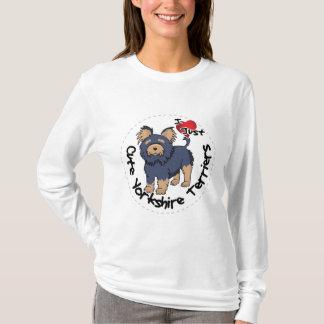 Camiseta Eu amo meu yorkshire terrier engraçado & bonito