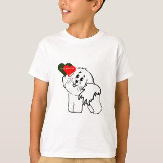 Camiseta Eu amo meus acessórios do cão de Bichon Frise