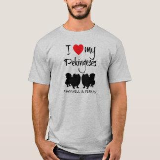 Camiseta Eu amo meus dois Pekingeses