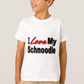 Camiseta Eu amo meus presentes e roupa do cão de Schnoodle
