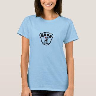 Camiseta Eu amo meus t-shirt do impressão da pata da