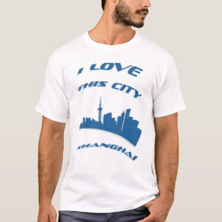Camiseta Eu amo minha cidade - T-camisa de Shanghai