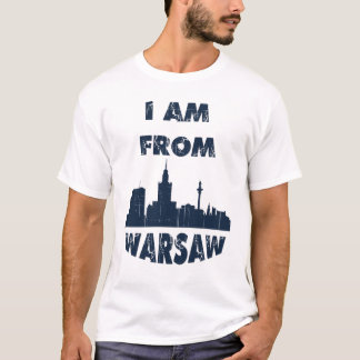 Camiseta Eu amo minha cidade - T-camisa de Varsóvia