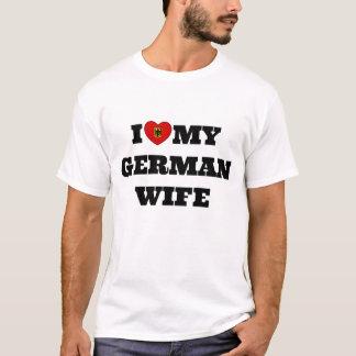 Camiseta Eu amo minha esposa alemão