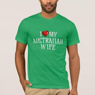 Camiseta eu amo minha esposa australiana