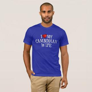 Camiseta eu amo minha esposa cambojana