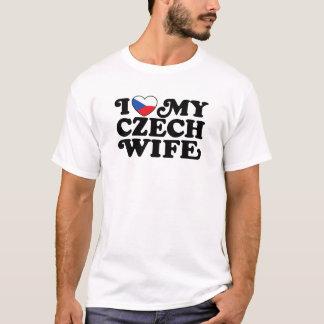 Camiseta Eu amo minha esposa checa