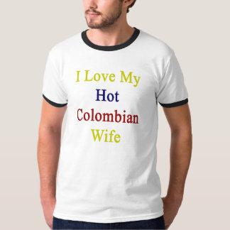 Camiseta Eu amo minha esposa colombiana quente