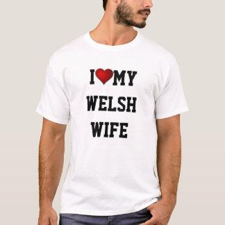 Camiseta Eu amo minha esposa de Galês