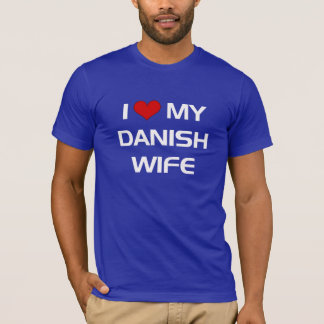 Camiseta Eu amo minha esposa dinamarquesa