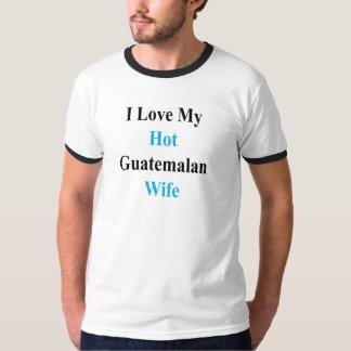Camiseta Eu amo minha esposa guatemalteca quente
